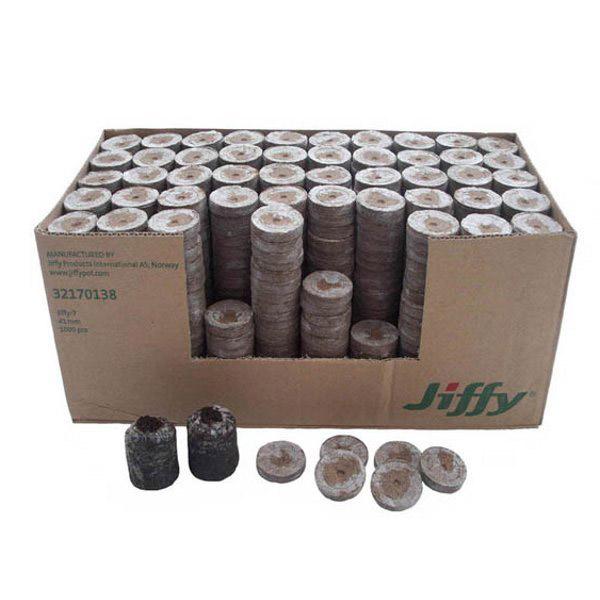 جی فی پلت یا گلدانهای فشرده جی فی - Jiffy peat pellets