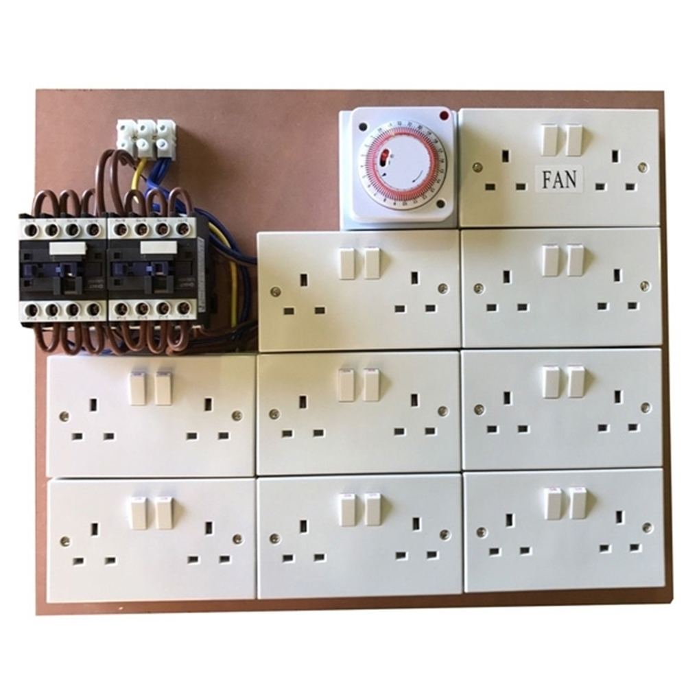 Picture of 16 way Contactor MDF Board+ 2 aux